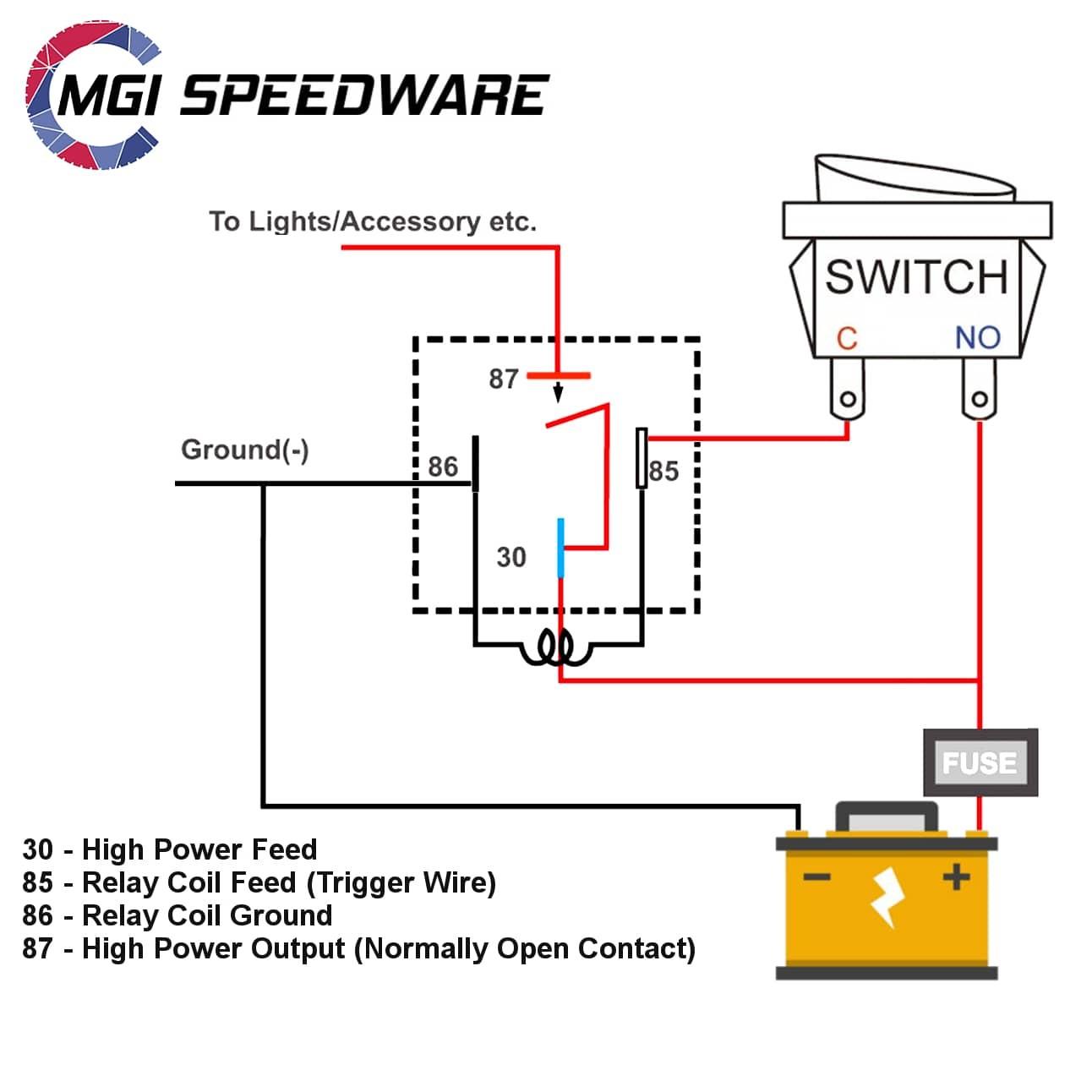relay socket wiring diagram 4 pin