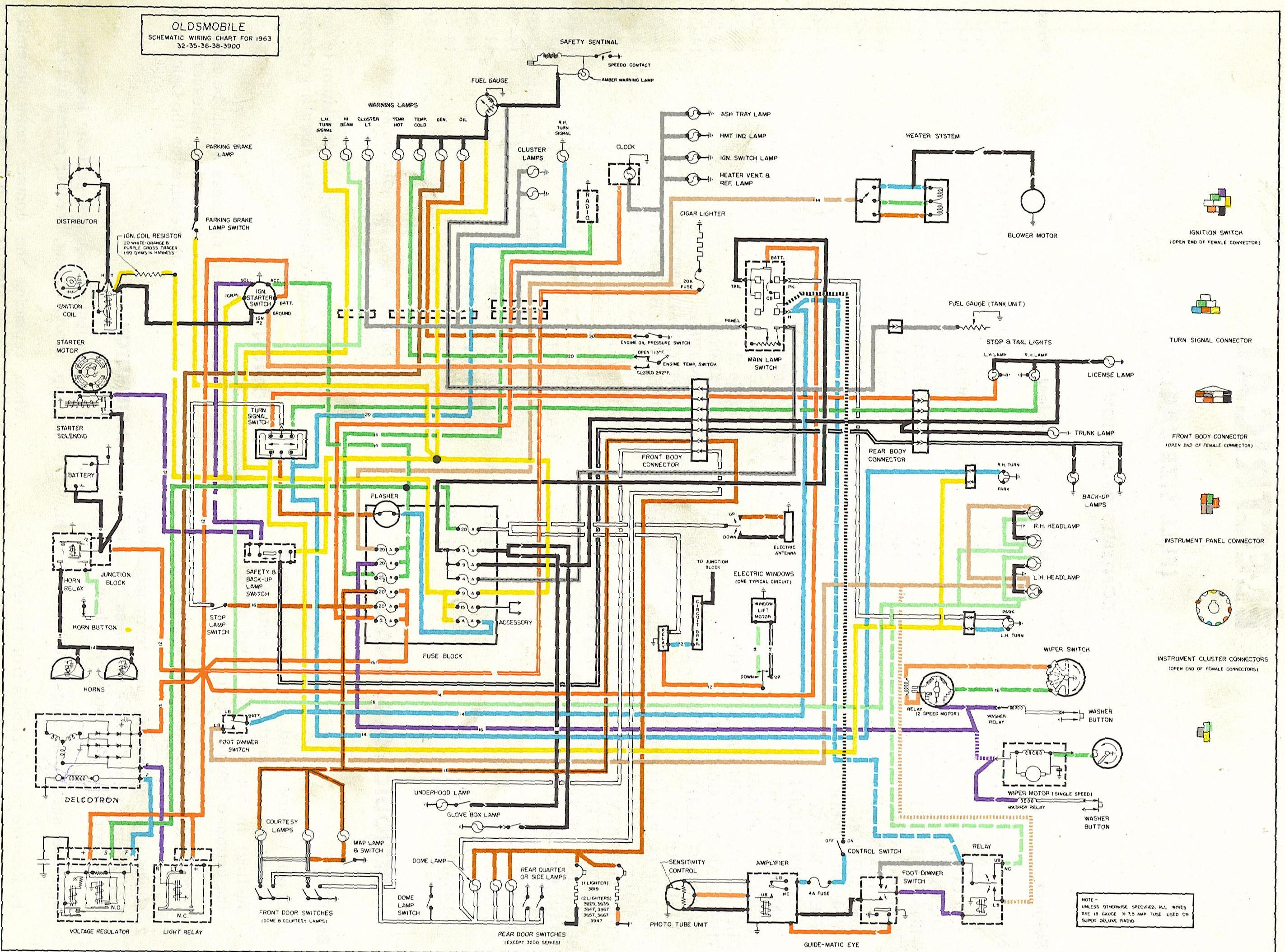 63OldsFSWiring Diagram