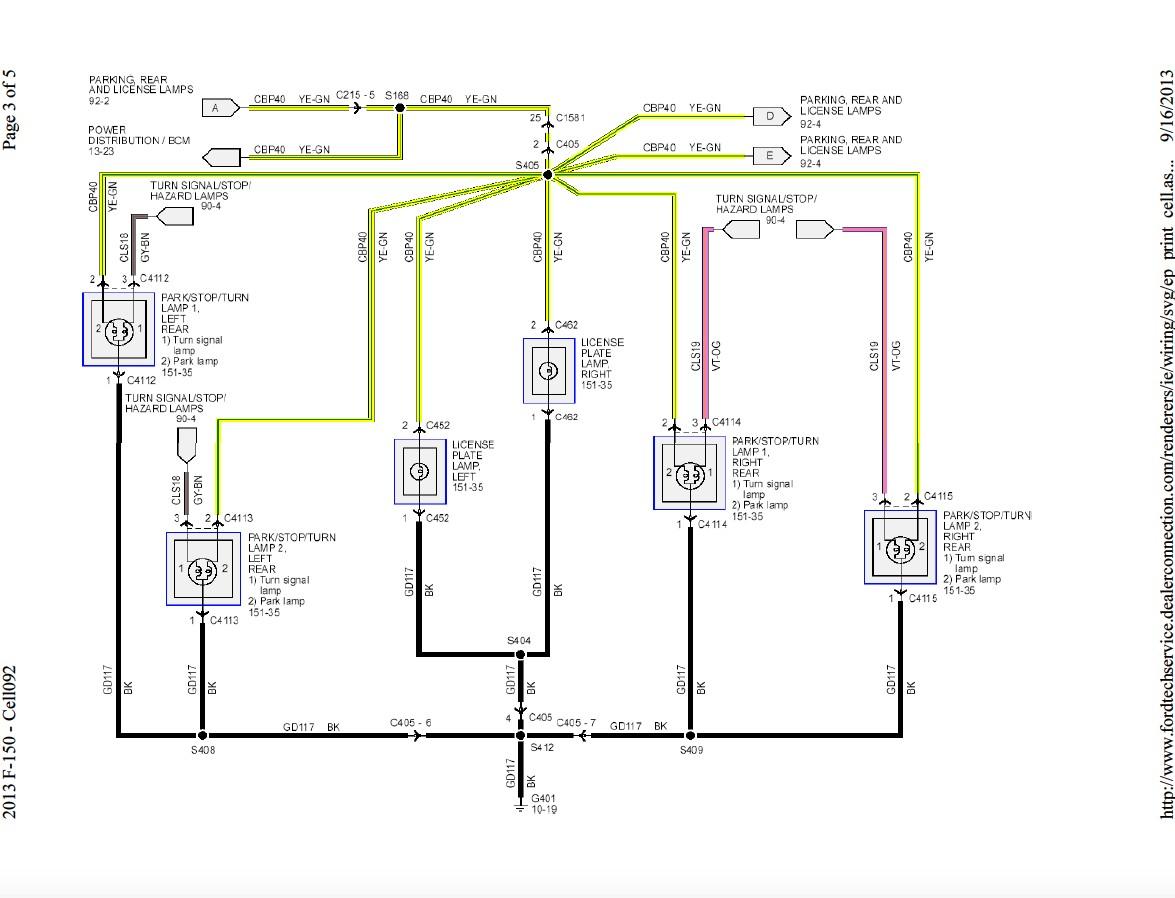 80 2013 f150 rear tail light wire harness 1ce080a d2dad182c373f9c146d6fe73