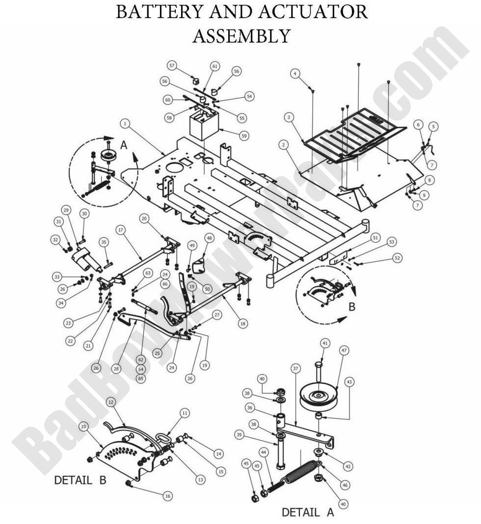 OutlawXP 2013 Battery and Actuator Assembly 01
