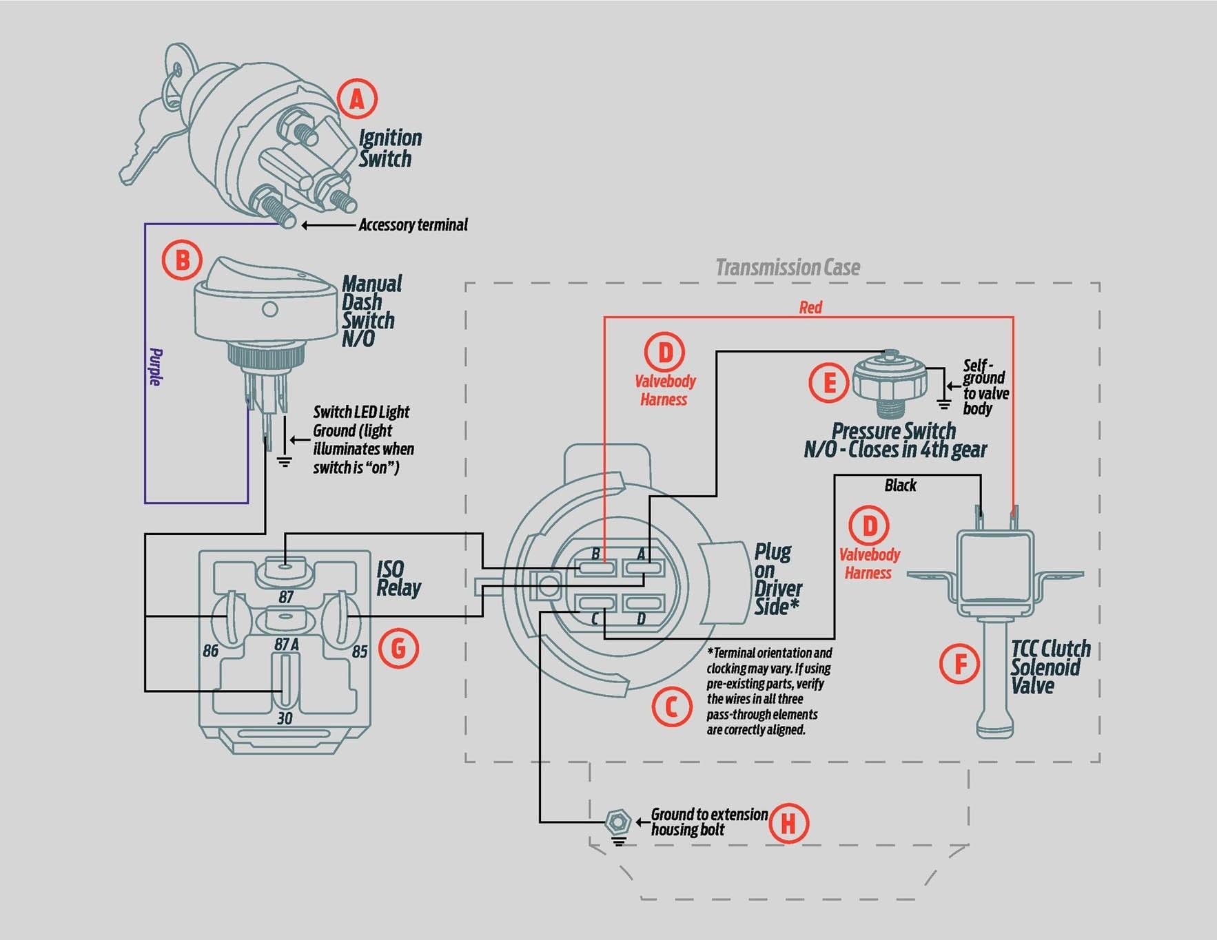 09 700R4 valvebody TCC circuit diagram manual lockup no puter