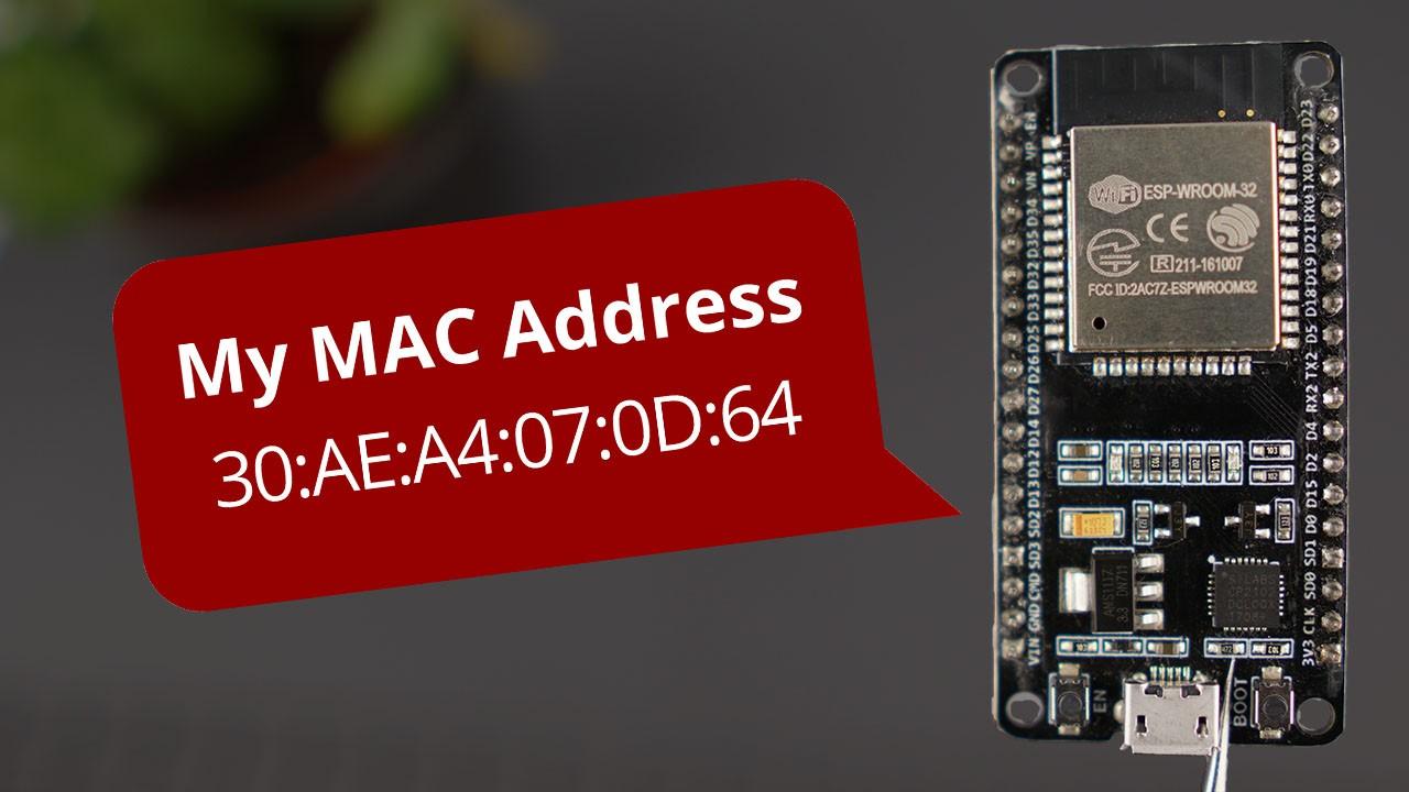 How to ESP32 ESP8266 Physical MAC Address Arduino IDE