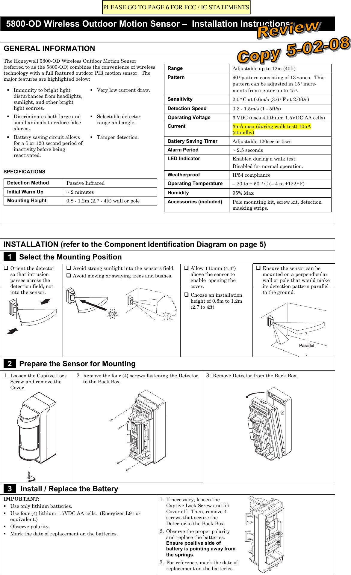 motion detector wiring diagram wiring diagram for outdoor motion detector light inspirational 8dl5800pir od security transmitter user manual 5890 od wireless 19t