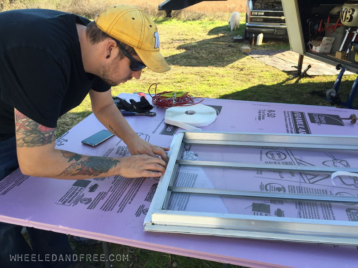 replace butyl tape rv window