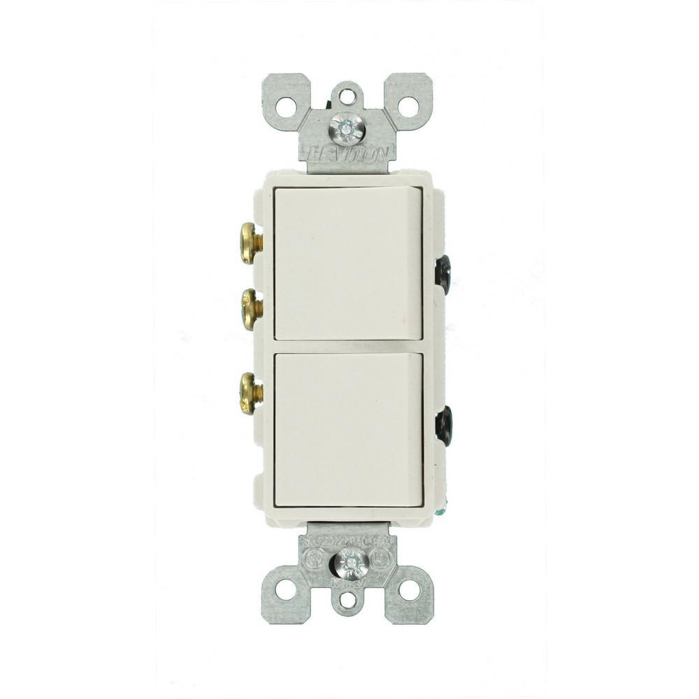 leviton decora 15 and 3 way ac bination switch white r52