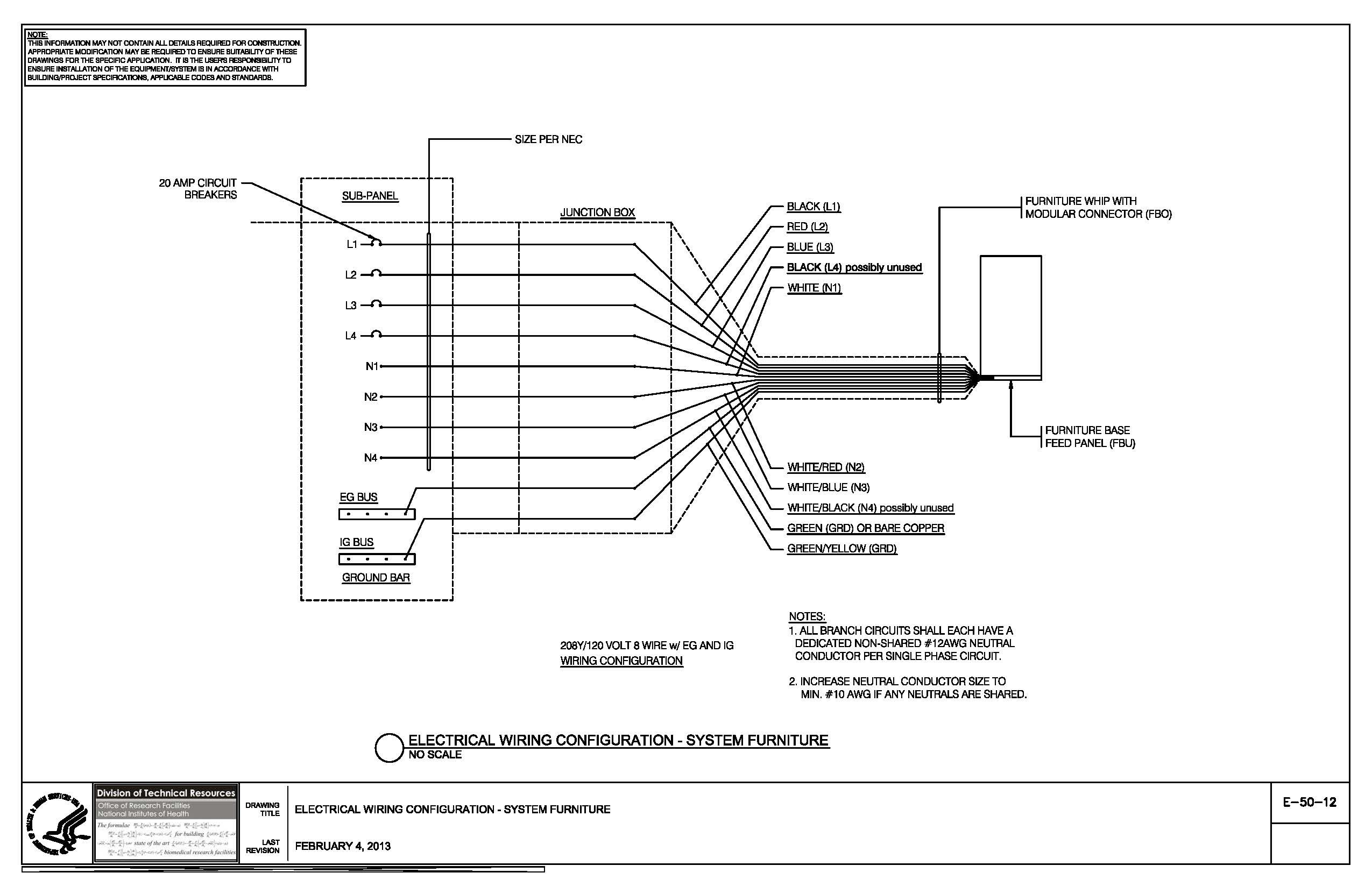 E 50 12 Electrical Wiring Configuration System Furniture