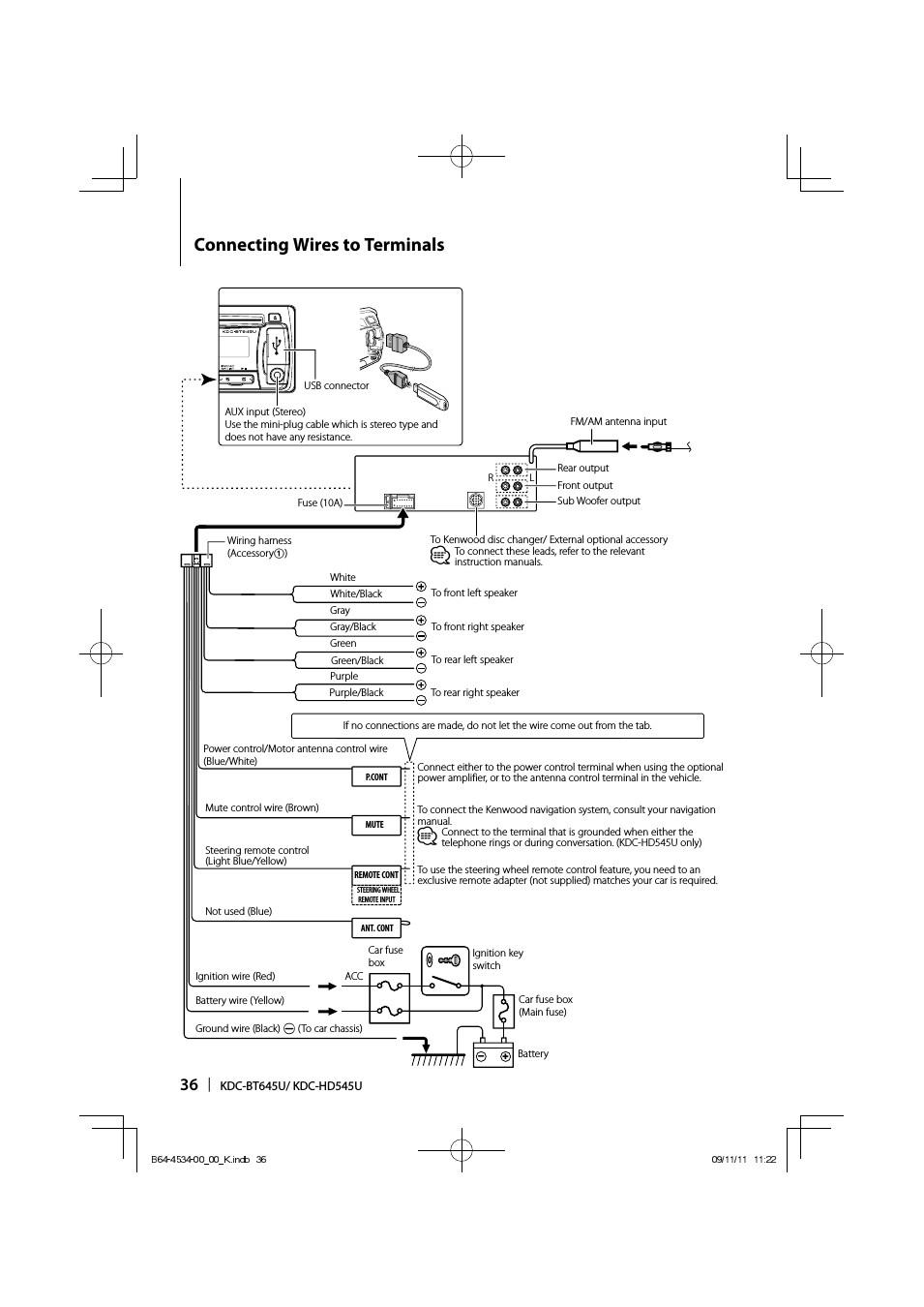 kenwood kdc hd545u page36