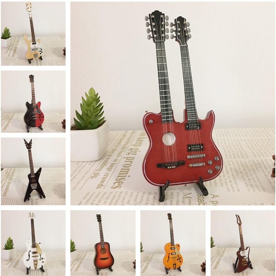 Mini Guitar Miniature Model Electric Guitar Electric Bass Model Miniature Wooden Mini Musical Instrument Model Collection 960x960