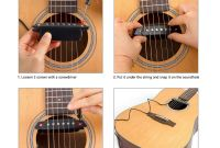 Kmise Acoustic Pickup Meegoo Elegant Details About Belcat soundhole Pickup with Active Power Jack for Acoustic Guitar Parts Black