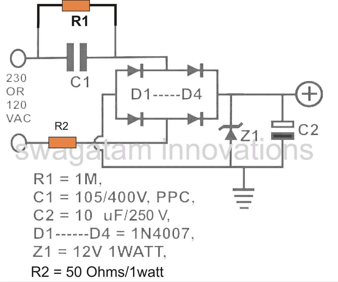 sensor with relay circuit besides 12 volt power supply circuit