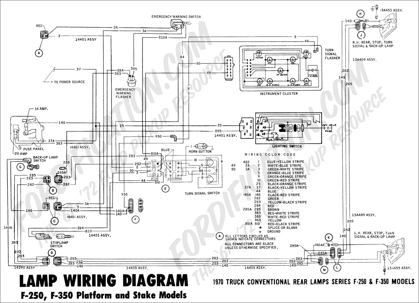 wiring diagram 70f rearlamps01