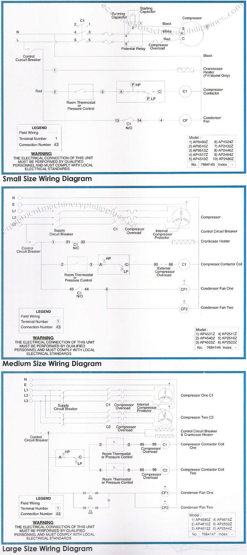 05 Tecumseh Packaged Refrigeration Condensing Unit Wiring Diagram