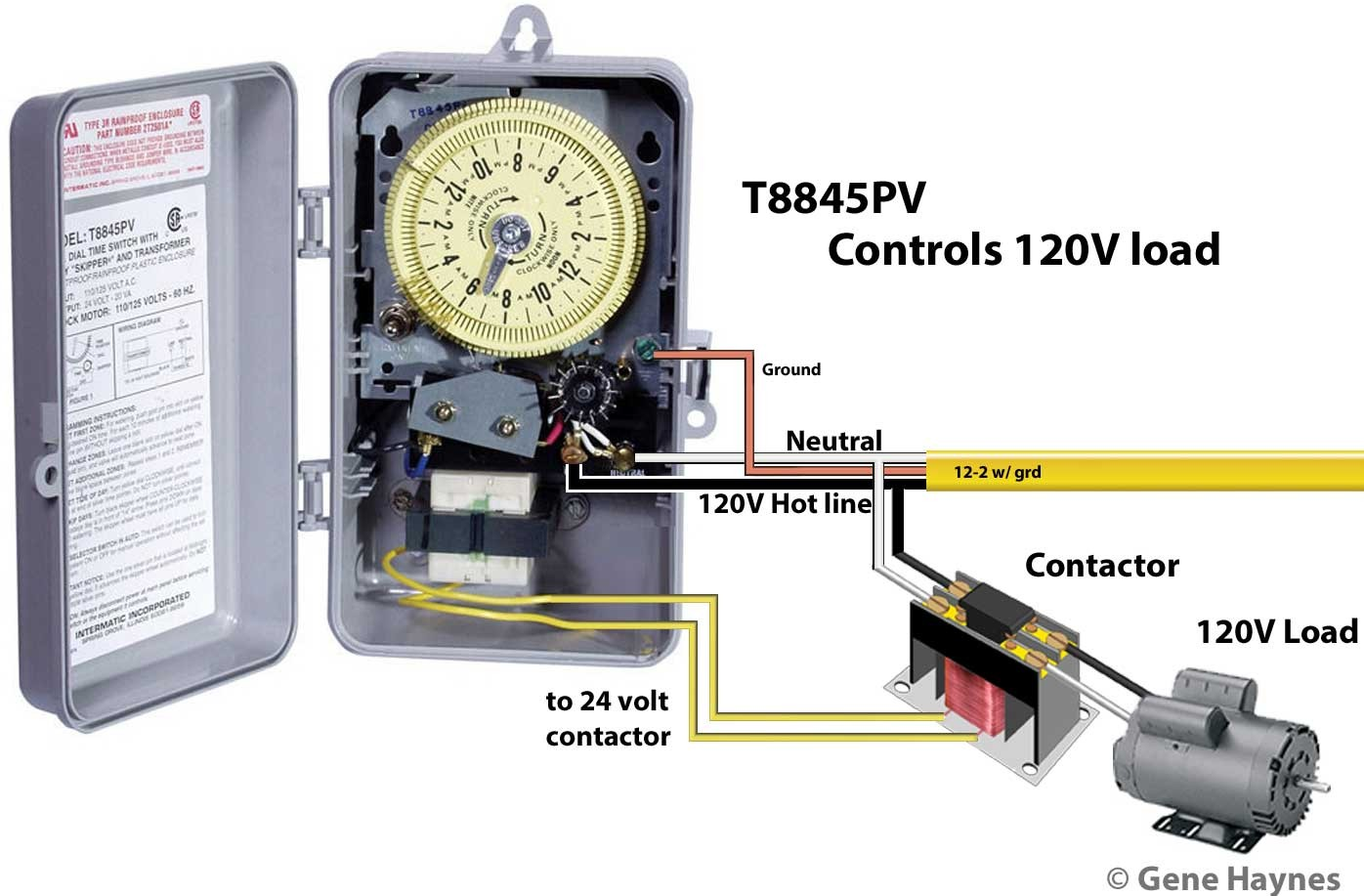 wiring diagram for intermatic t8845pv timer basic electronics