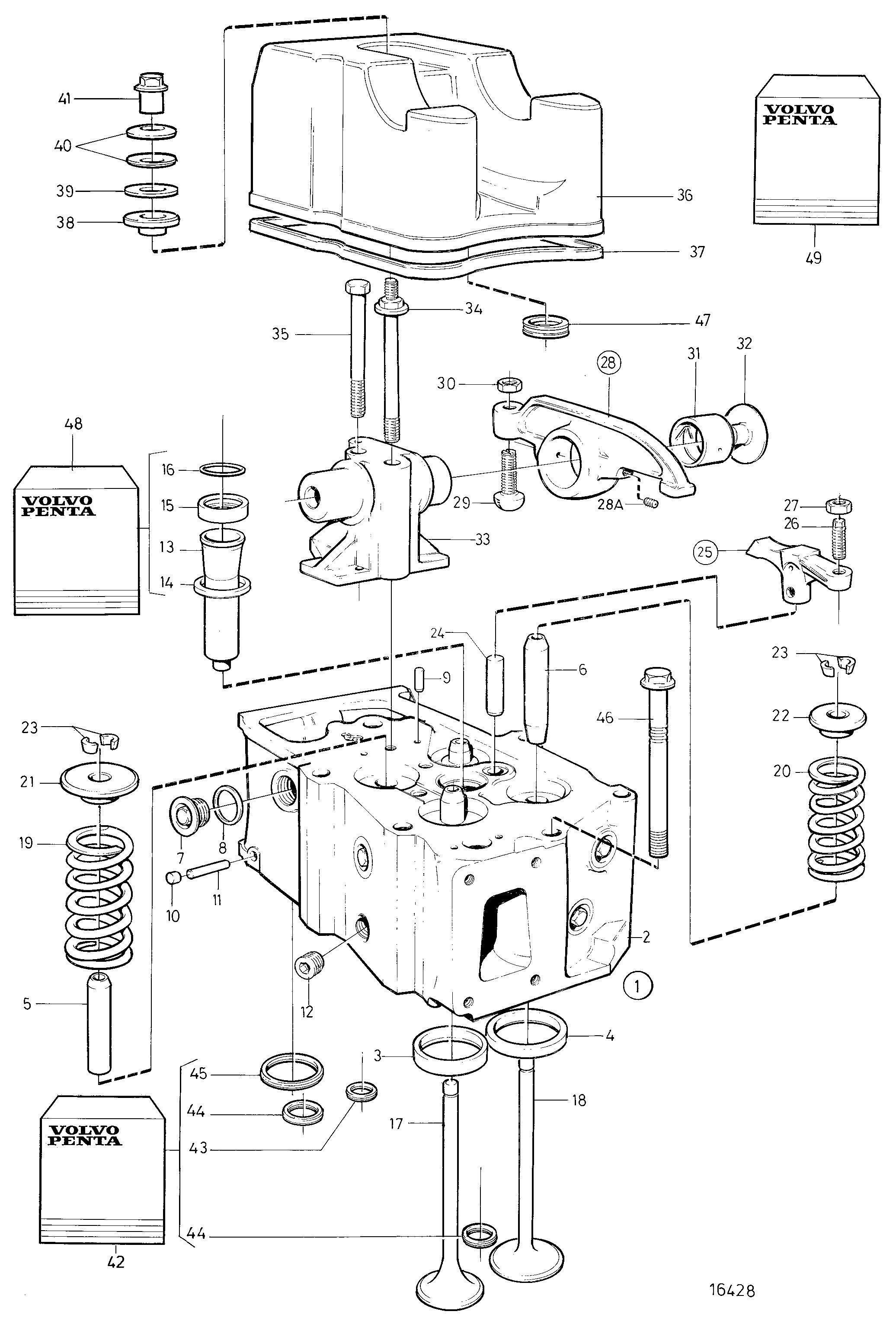volvo penta engine diagram volvo penta engine cylinder head a tamd162c c of volvo penta engine diagram