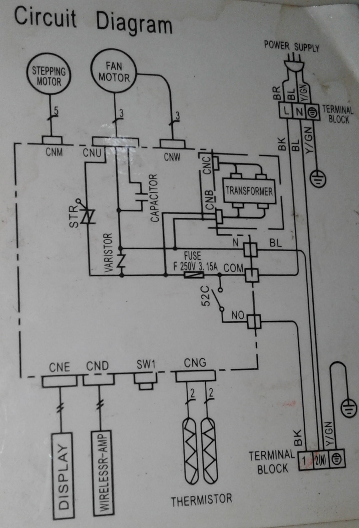 need wiring help for aircon blower fan