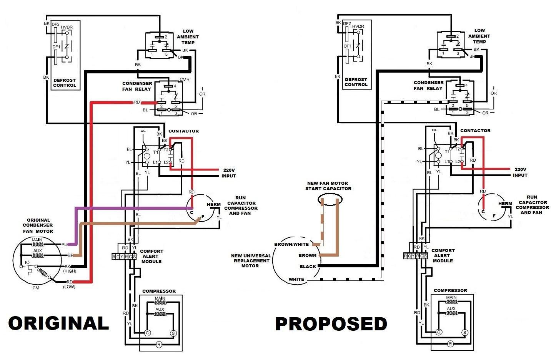 new condenser fan motor amana 2 ton split system heat pump