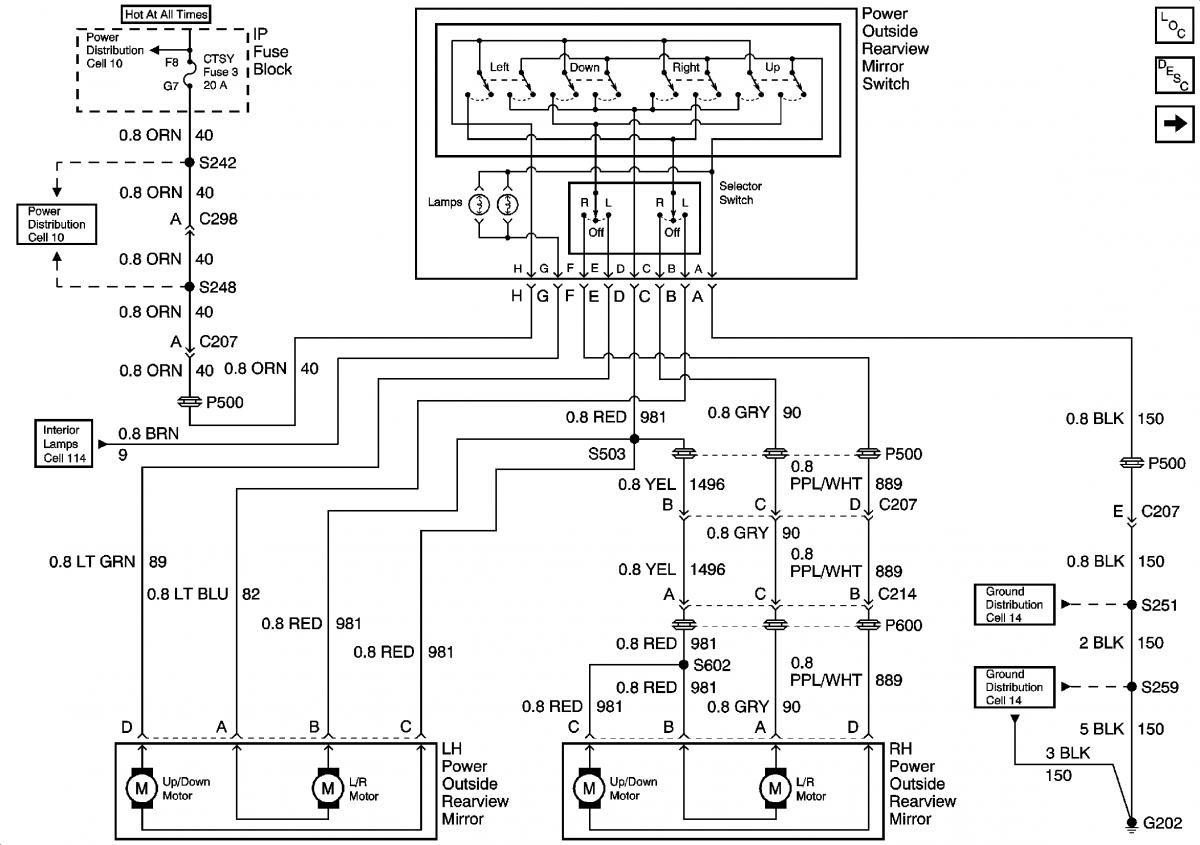 2004 tahoe mirror wiring diagram
