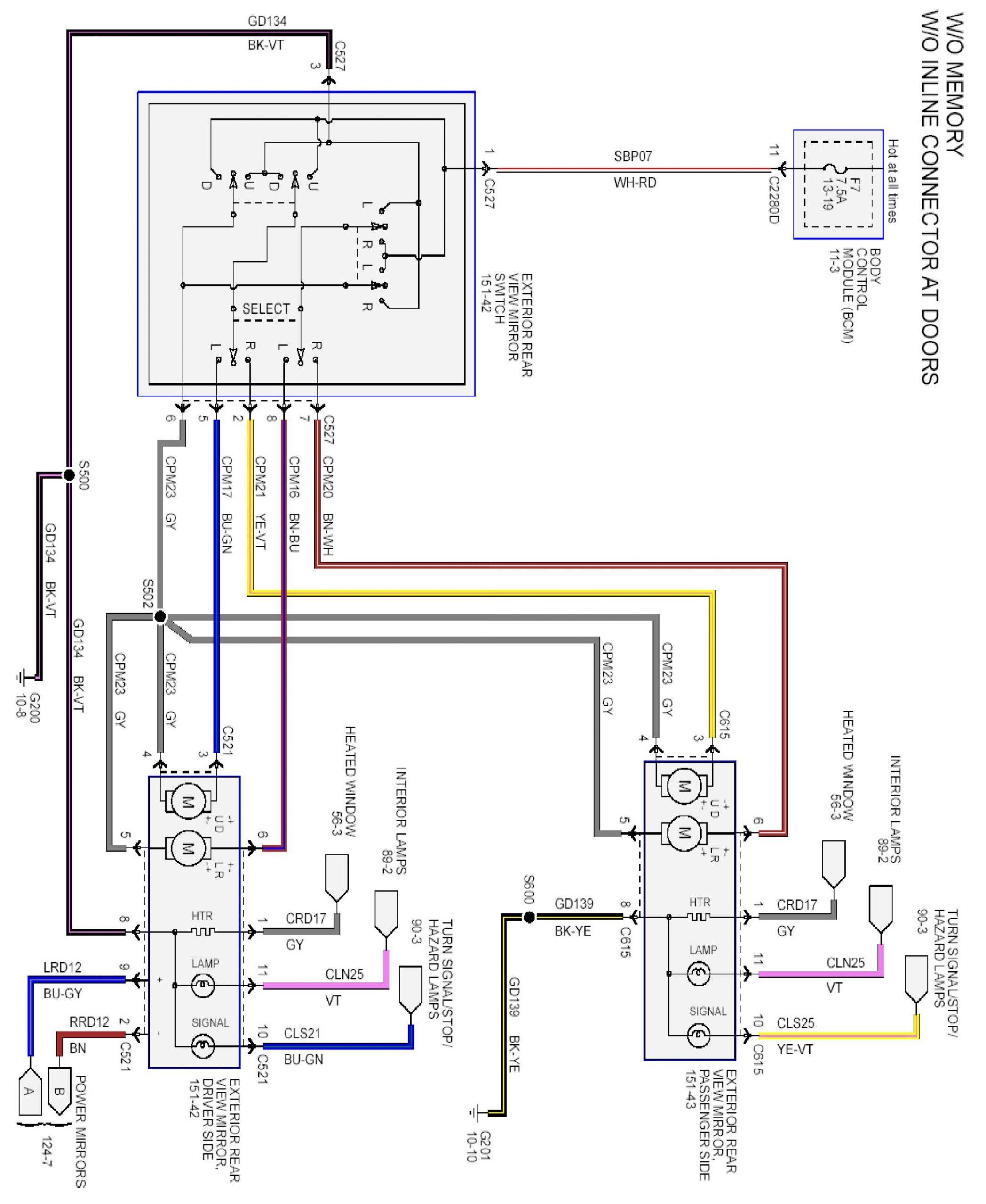 tbb heated mirror wiring diagram