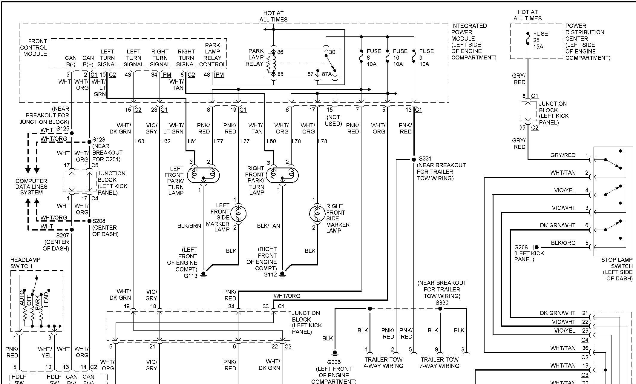 2000 durango trailer wiring diagram