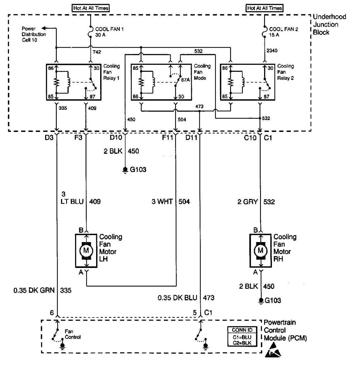 radiator cooling fan wiring diagram