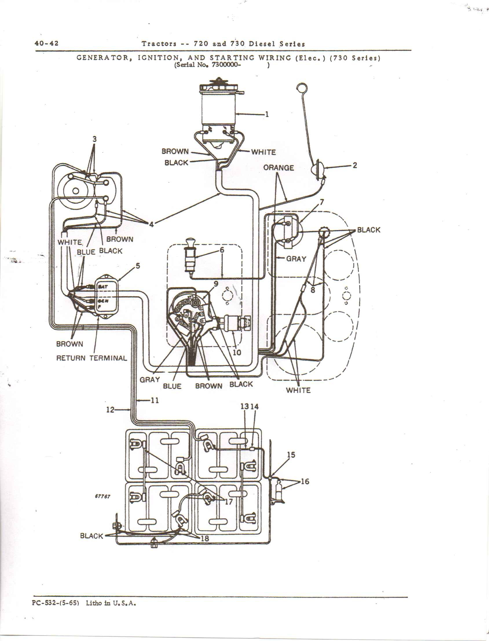 john deere 730 sel wiring diagram