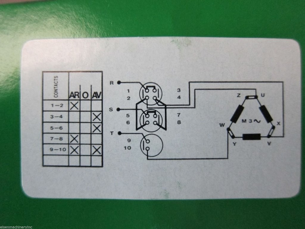 milling machine part forward reverse switch for 3 phase motor
