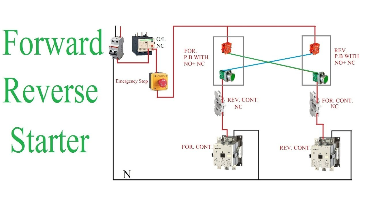 wiring diagram of forward and reverse