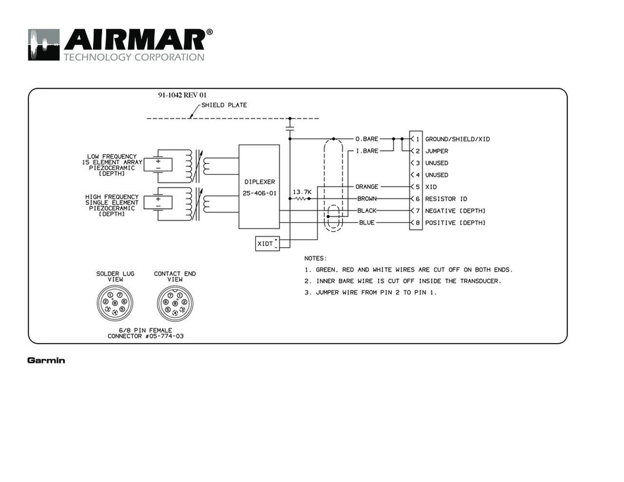 garmin 8 pin transducer wiring diagram