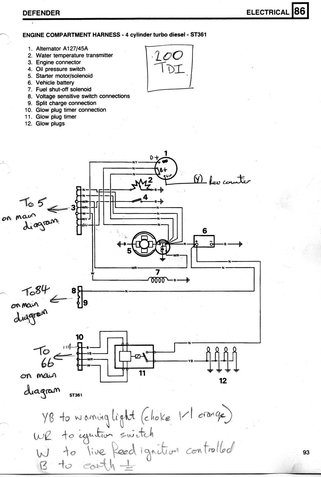 99 f350 glow plug wiring diagram