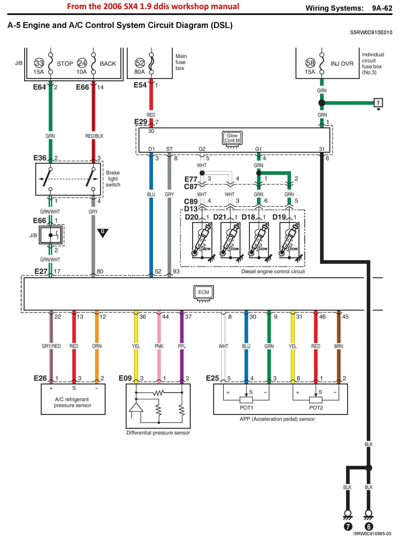 glow plug timer relay wiring diagram