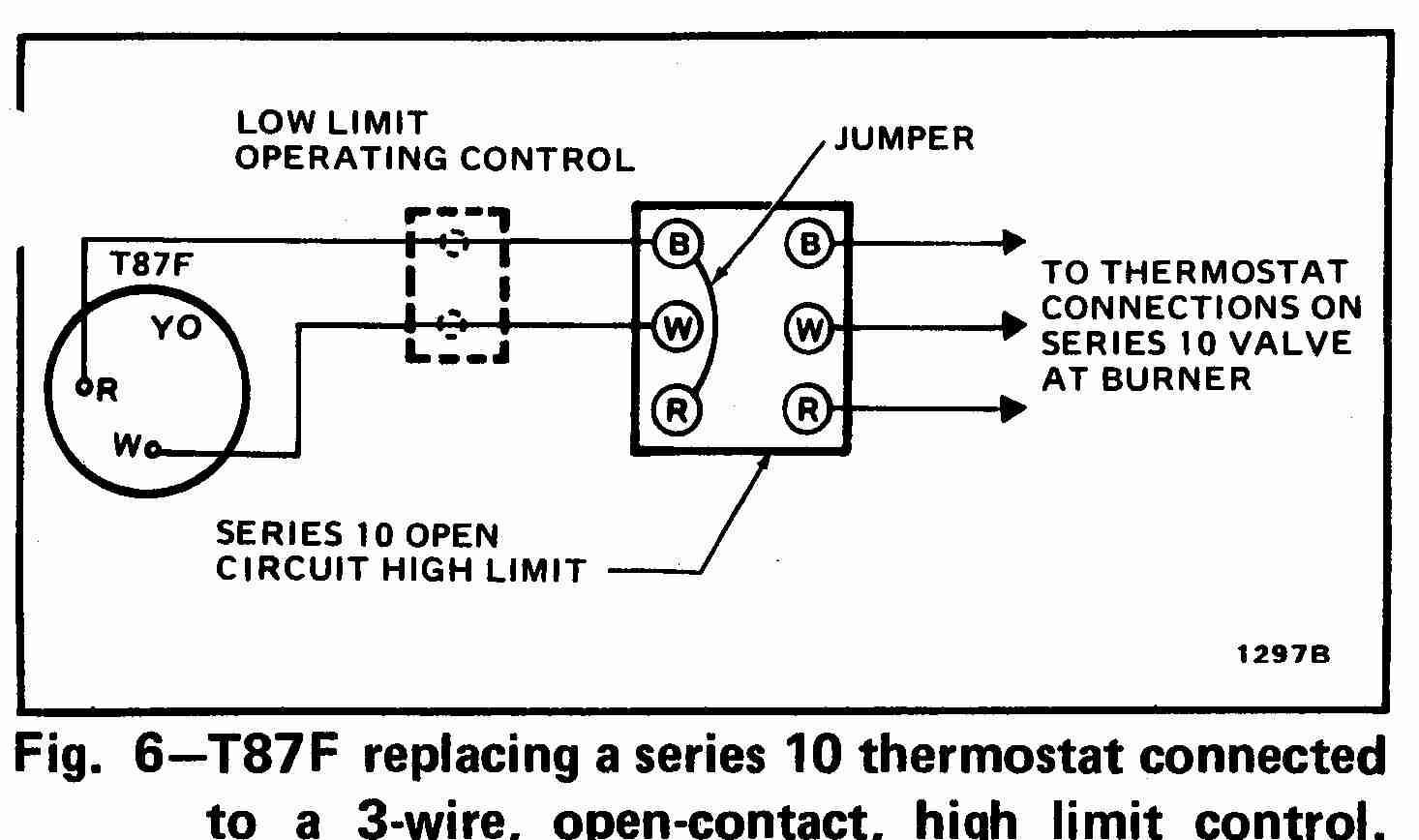 honeywell t87k thermostat wiring diagram