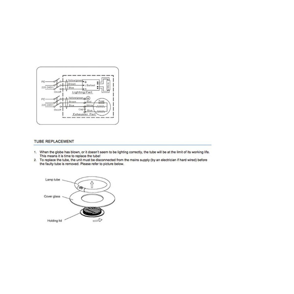 heller 250mm square exhaust fan light silver efl10sw