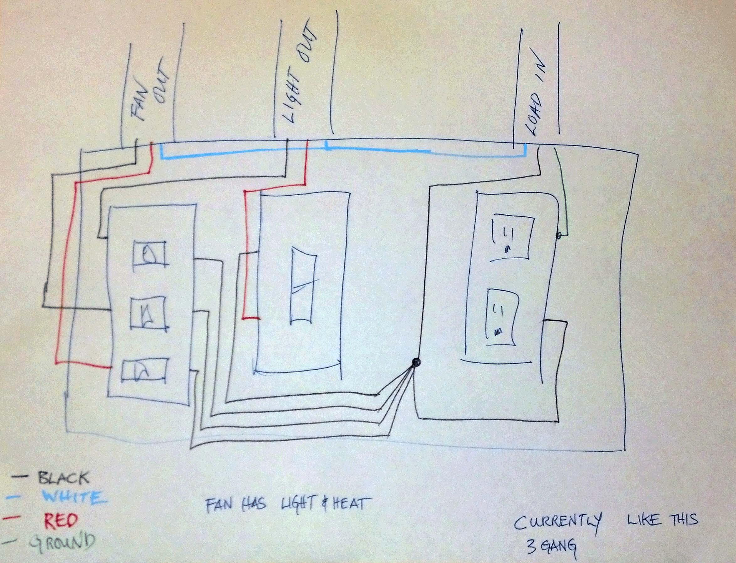bathroom light and fan wiring diagramml